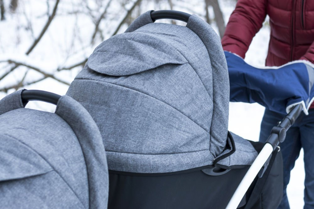 an image of the best double stroller for infant and toddler