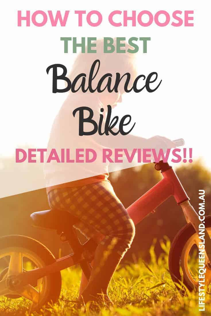 "Pin image on ""how to choose the best balance bike"" with child sat on a bike"