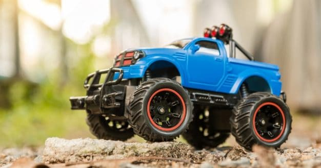 image of one of thebest remote control cars for kids with all terrain tyres