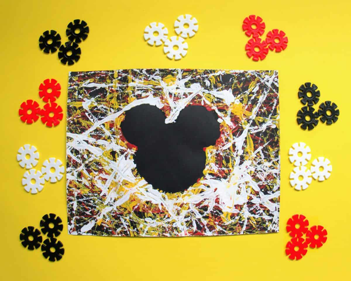 Fun Mickey Marble Painting for Toddlers