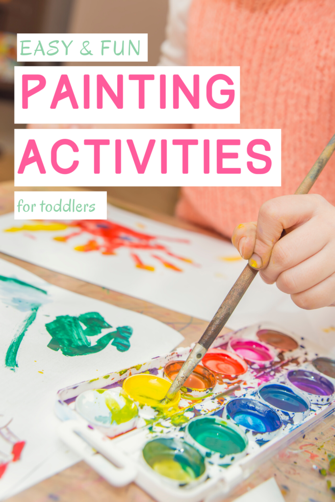 Pin image for the benefits of painting for toddlers article
