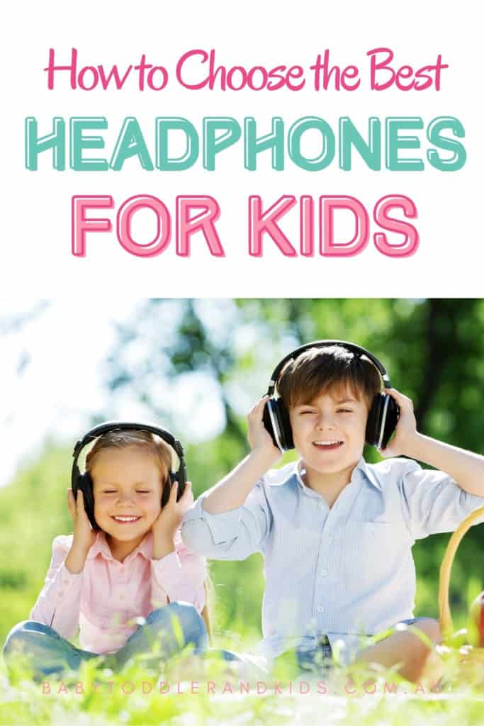 Pin image with the text best headphones for kids